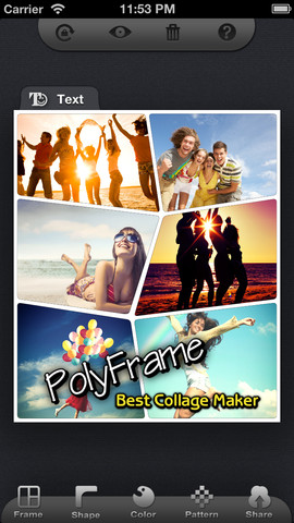 Polyframe app foto hlavni