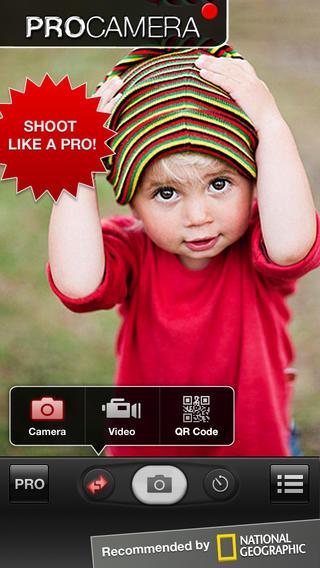 ProCamera app foto hlavni