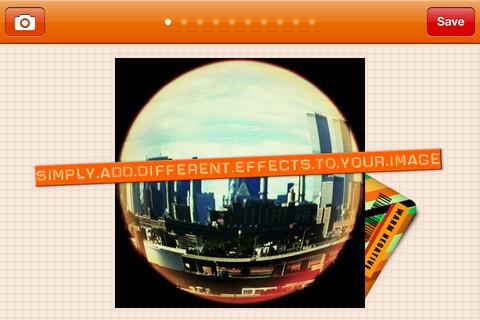 FishEye Toy Camera app foto hlavni