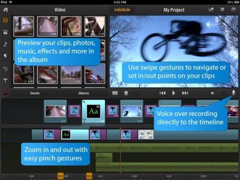 Pinnacle Studio app foto hlavni