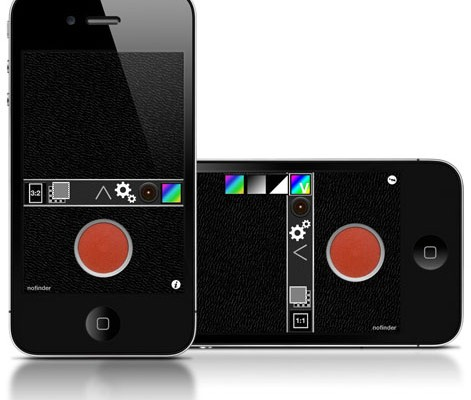 Nofinder iPhone app foto