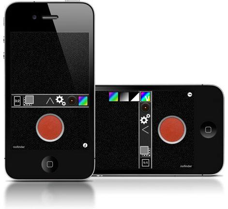 Nofinder iPhone app foto