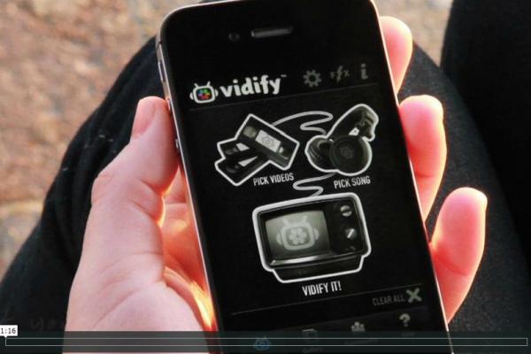 Vidify app foto hlavni
