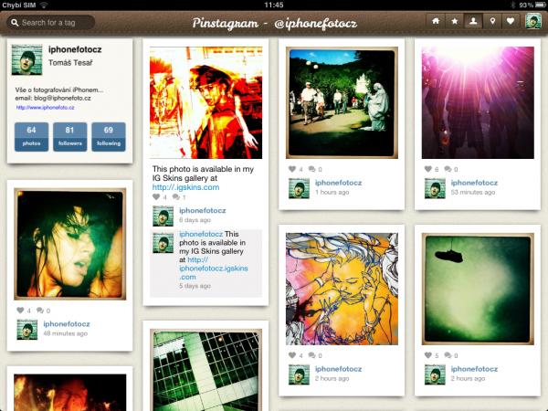 Pinstagram app foto 1