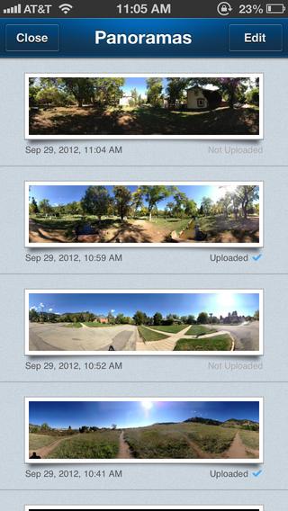 360 Panorama app foto hlavni