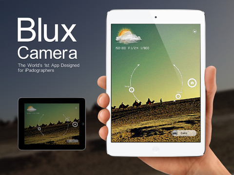 Blux Camera for iPad app