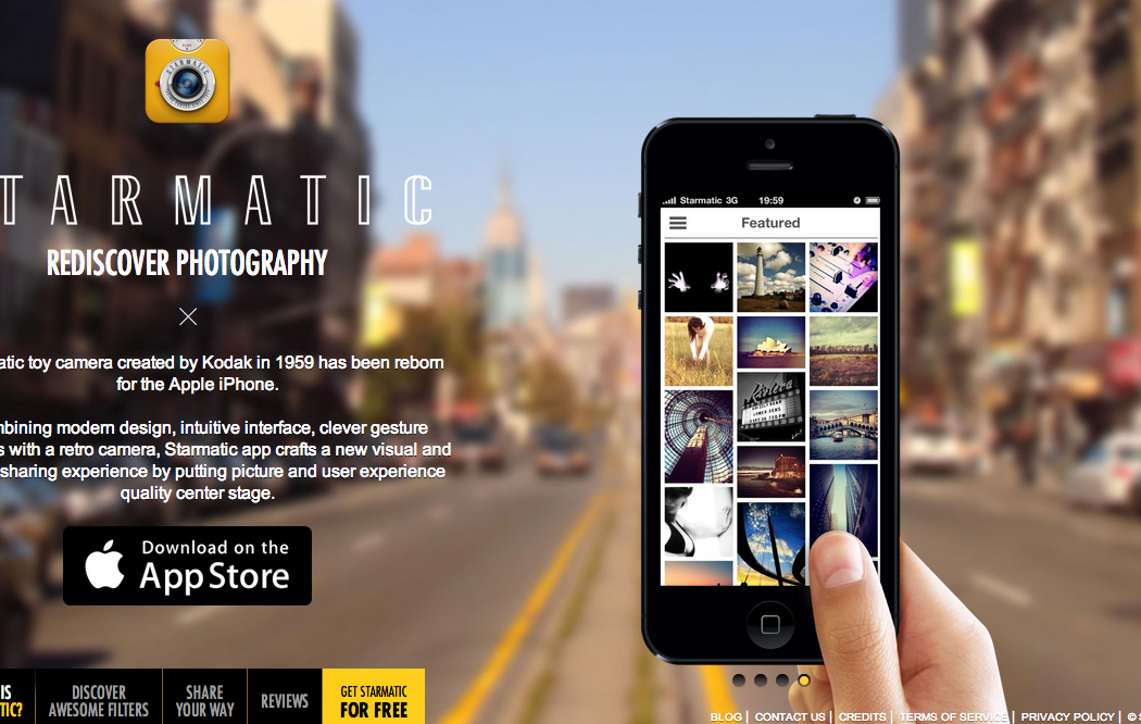 Starmatic app web foto