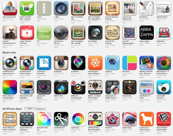 App Store foto hlavni