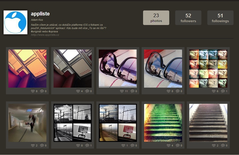 Appliste Instagram screenshot