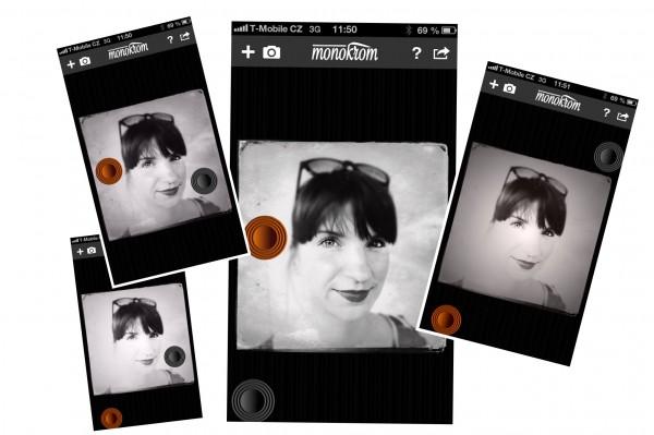 Monokrom app foto hlavni