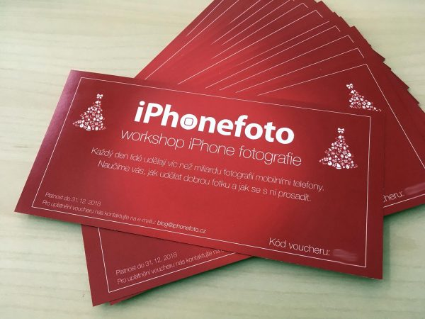 Vánoční vouchery na workshop iPhone fotografie
