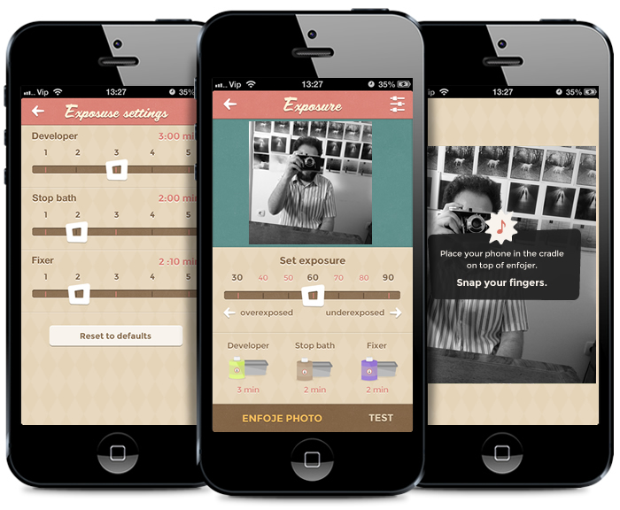 ENFOJER fotokomora pro iPhone mobilni aplikace