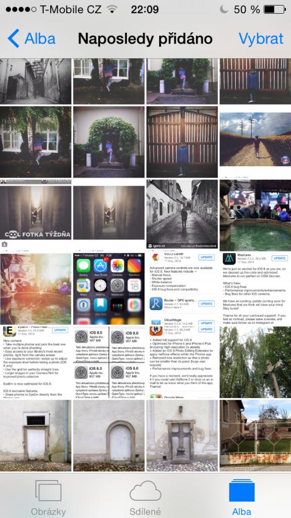 iOS 8 Naposledy přidáno
