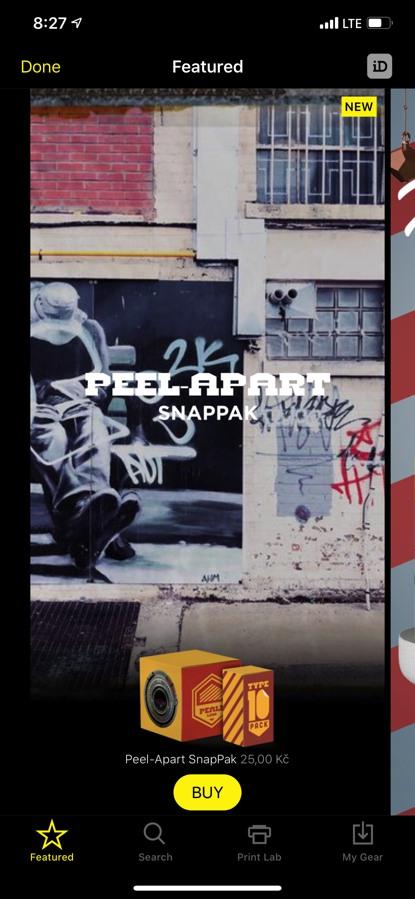 Peel-Apart SnapPak