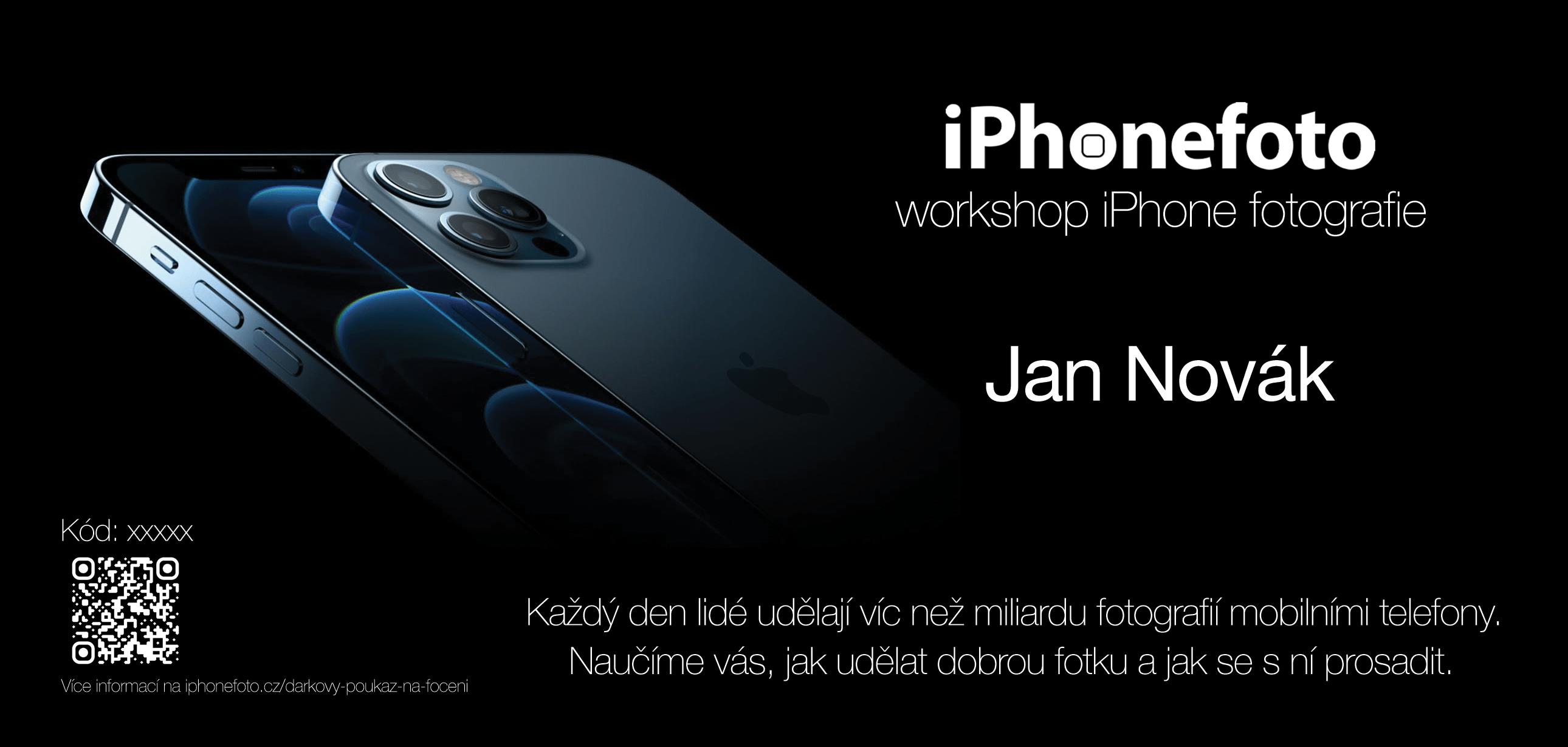 dárkový poukaz na focení iPhonem
